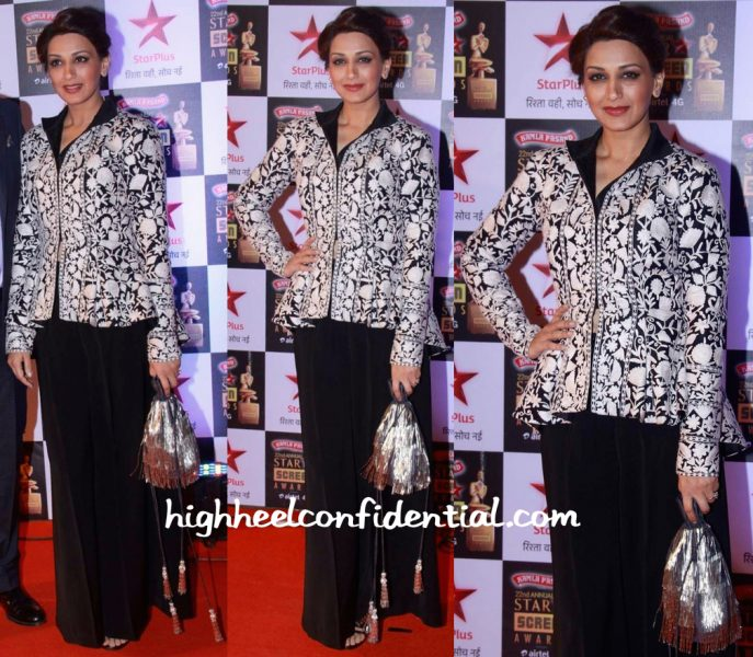Sonali Bendre In Pankaj And Nidhi At Star Screen Awards 2016-1