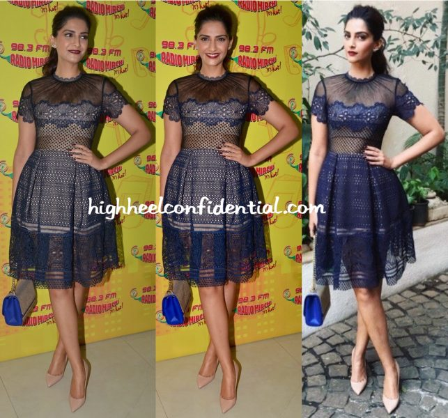 Sonam Kapoor Wears Self Portrait To Neerja Promotions-1