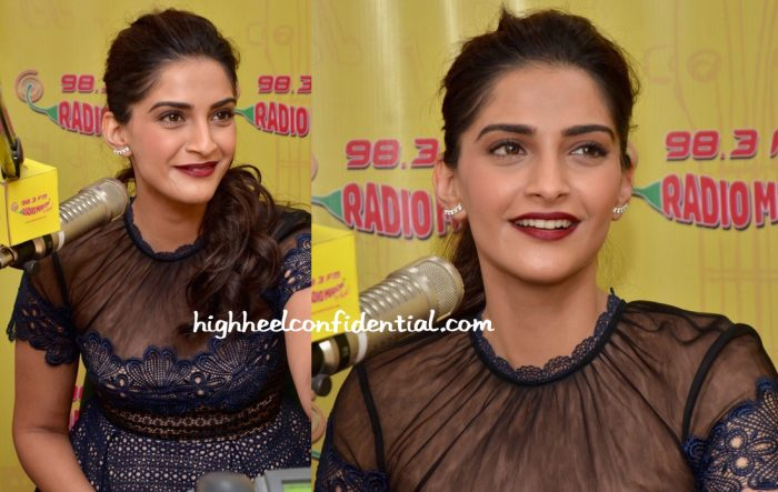 Sonam Kapoor Wears Self Portrait To Neerja Promotions-2