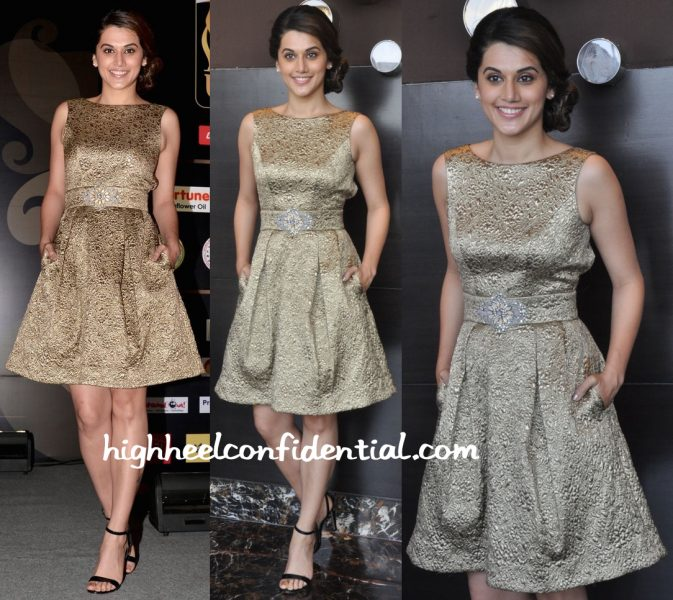 Taapsee Pannu In Theia Couture At IIFA Utsavam 2016 Press Meet-2