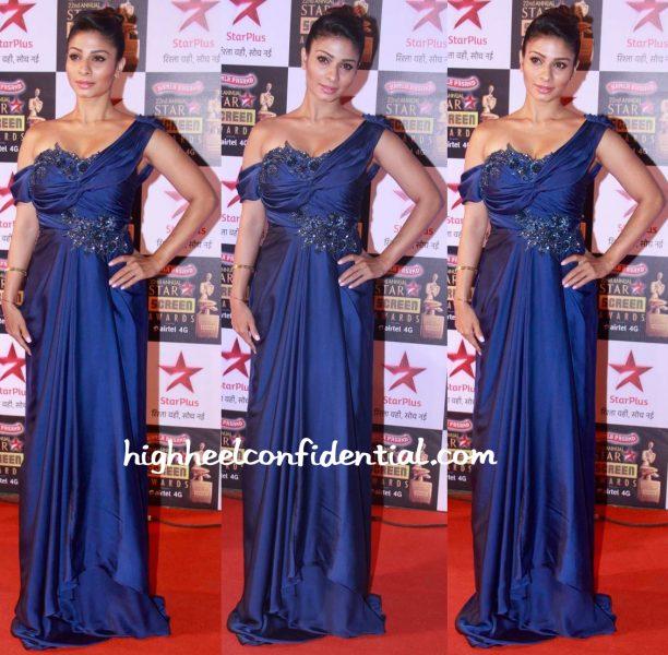 Tanishaa Mukerji In Amy Billimoria At Star Screen Awards 2016