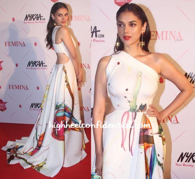 Aditi Rao Hydari In Gauri And Nainika At Femina Beauty Awards 2016-2