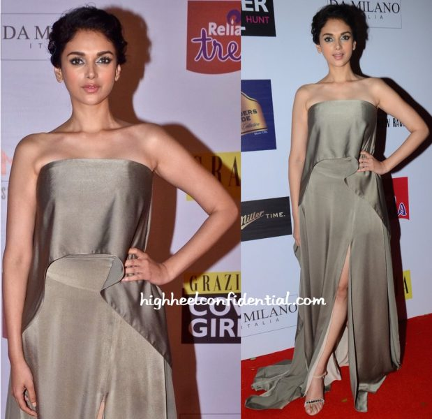 Aditi Rao Hydari In Lola By Suman B At Grazia Cover Girl Hunt Event