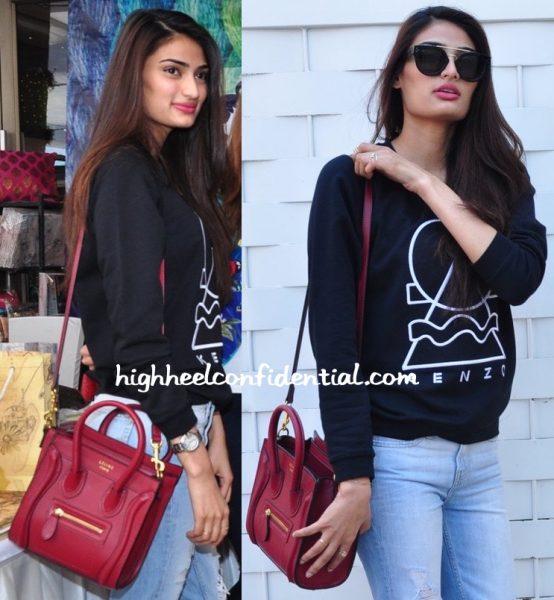 Athiya Shetty At Araish Exhibition With Celine Nano Bag