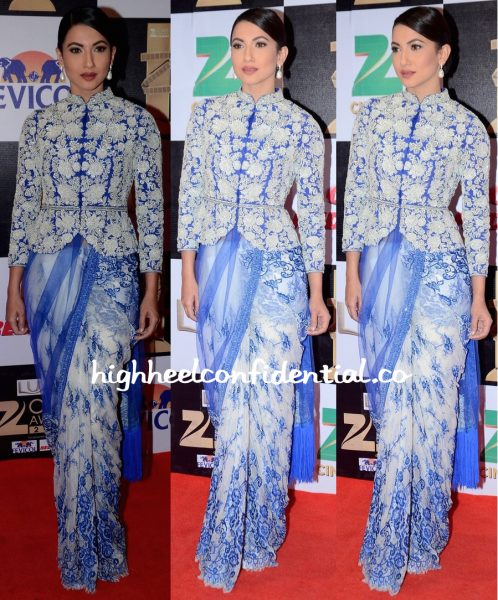Gauahar Khan In Rabani & Rakha At Zee Cine Awards 2016-1