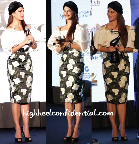 Jacqueline Fernandez In Bambah At TOIFA Press Meet-1