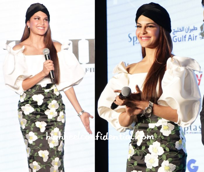 Jacqueline Fernandez In Bambah At TOIFA Press Meet-2