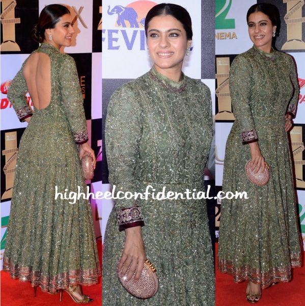 Kajol At Zee Cine Awards 2016-manish malhotra