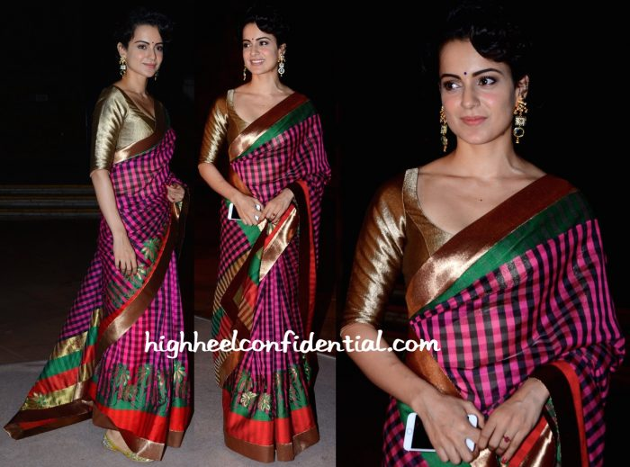 Kangana Ranaut In Manish Malhotra At Arundhati De And Sahil Sheth's Wedding Reception-1