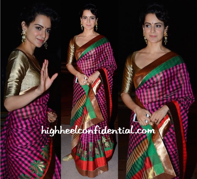 Kangana Ranaut In Manish Malhotra At Arundhati De And Sahil Sheth's Wedding Reception-2