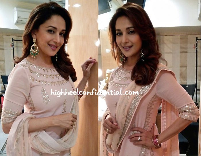 Madhuri Dixit Photographed In Anita Dongre At A Recent Event-2