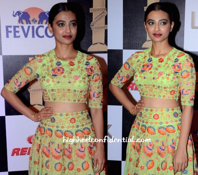Radhika Apte At Zee Cine Awards 2016-2
