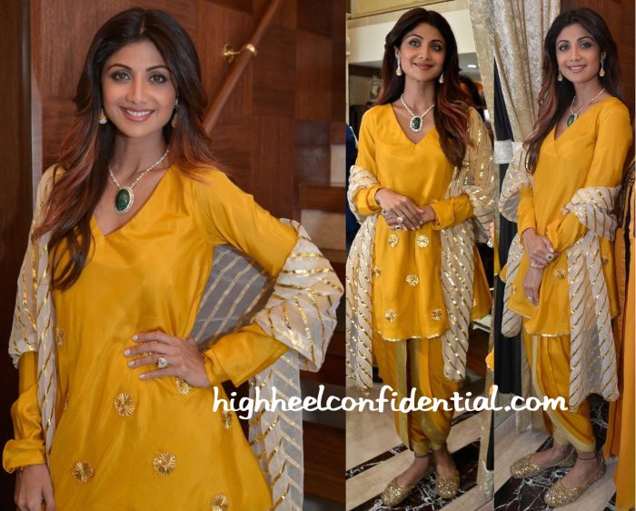 Shilpa Shetty In Masaba At Diagold Store Launch-1