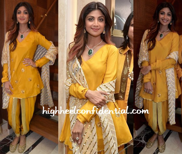 Shilpa Shetty In Masaba At Diagold Store Launch-2