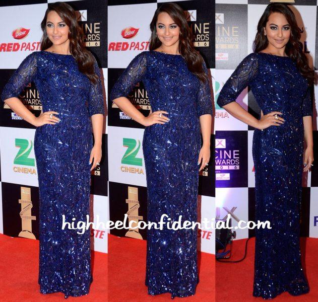 Sonakshi Sinha In Nadine Dhody At Zee Cine Awards 2016 -1