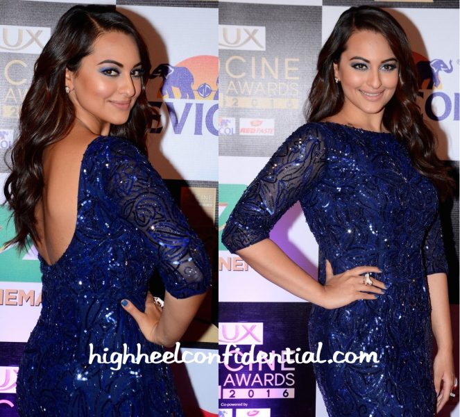 Sonakshi Sinha In Nadine Dhody At Zee Cine Awards 2016-2