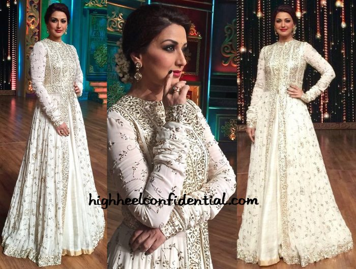Sonali Bendre Wears Manish Malhotra To India's Best Dramebaaz Sets