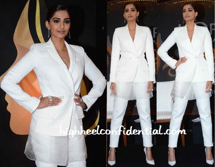 Sonam Kapoor In Antonio Berardi At L'Oréal Women Of Worth Press Meet-2