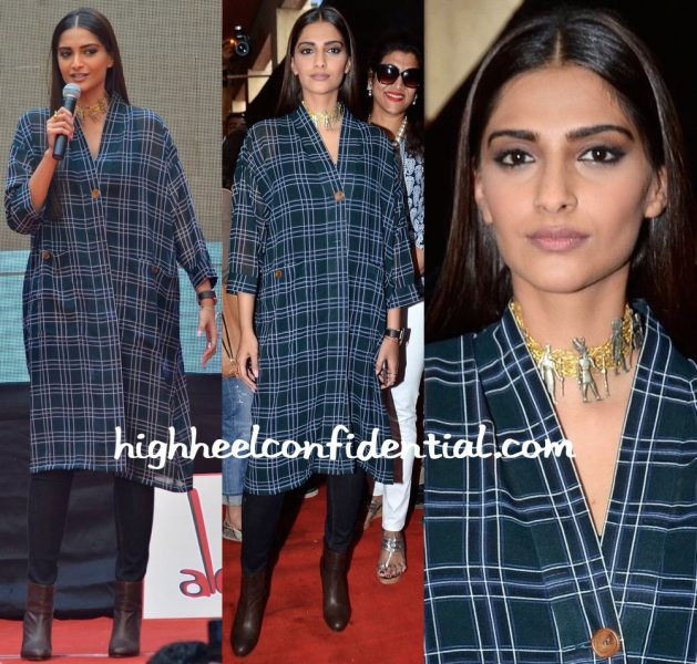 Sonam Kapoor In Dhruv Kapoor At Neerja Promotions-2