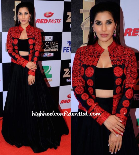 Sophie Choudry In Manish Malhotra At Zee Cine Awards 2016