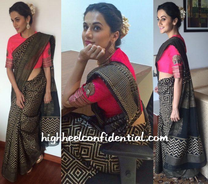 Taapsee Pannu In Radhika Airi At Bhima Jewellers Store Launch-1