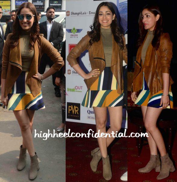 Yami Gautam Wears Zara To Sanam Re Promotions In Delhi-2