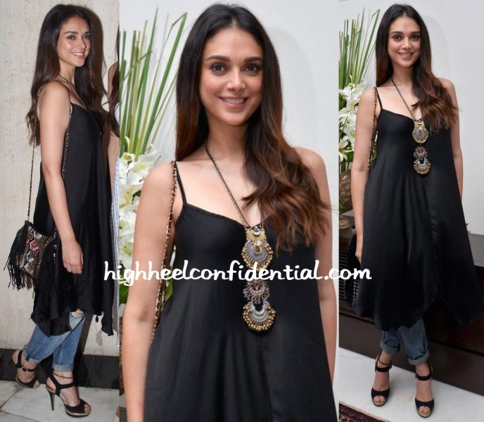 Aditi Rao Hydari At Manish Malhotra's Dinner Party