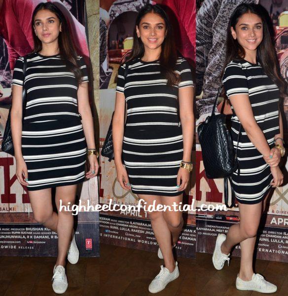Aditi Rao Hydari In Forever 21 At 'Ki And Ka' Screening