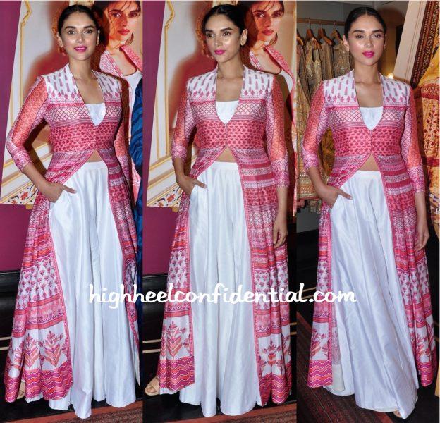 Aditi Rao Hydari Wears Anita Dongre To The Designer's Collection Launch-2