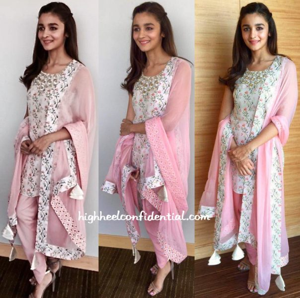 Alia Bhatt In Payal Singhal At Kapoor And Sons Promotions