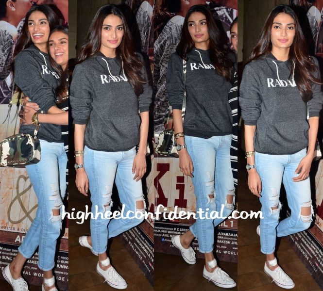 Athiya Shetty In Rodarte At 'Ki And Ka' Screening