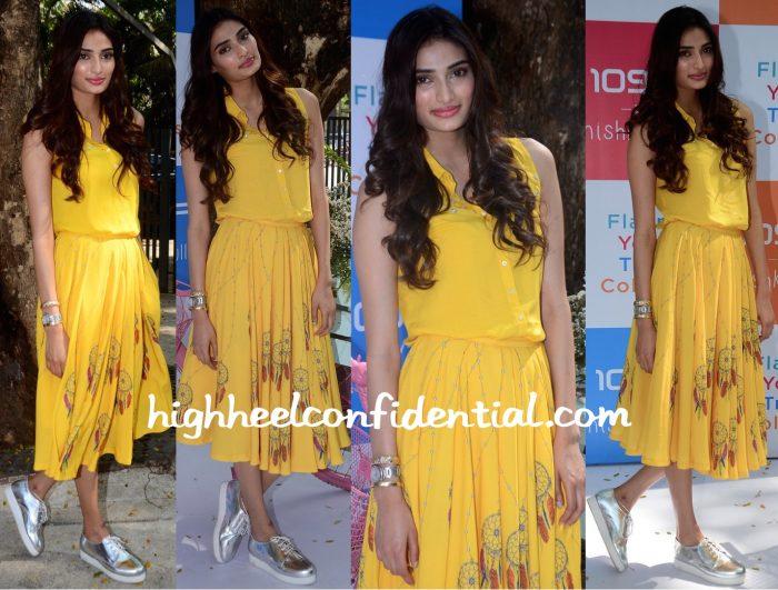 Athiya Shetty Wears Nishka Lulla To The Designer's Collection Launch