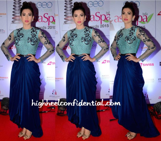 Gauahar Khan In Kartikeya At AsiaSpa Awards 2016