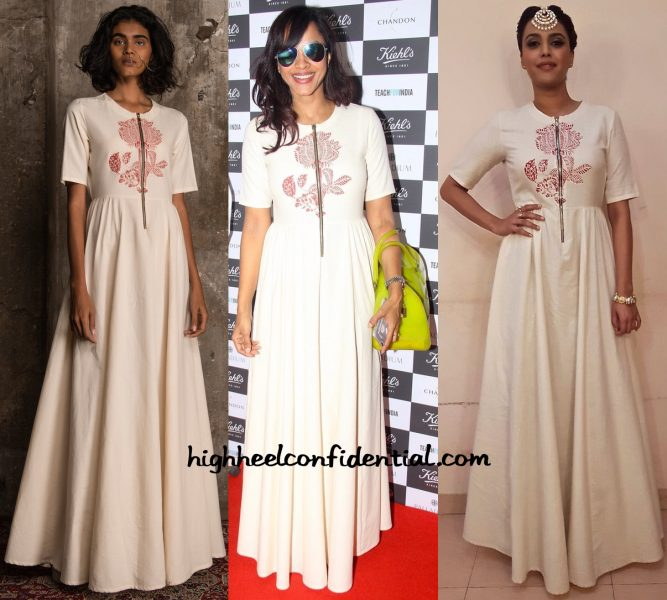 In Natasha J Label- Manasi Scott At Kiehl's Event And Swara Bhaskar At An Event
