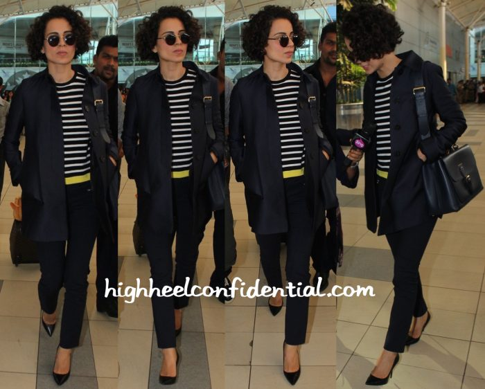 Kangana Ranaut Photographed At Mumbai Airport-1