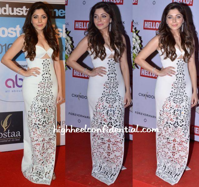 Kanika Kapoor In Monisha Jaising At HT Most Stylish Mumbai 2016  And Hello Cup 2016-1
