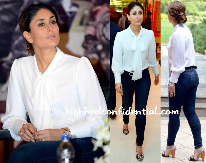 Kareena Kapoor Wears Neha Taneja To Ki And Ka Promotions In Delhi-2