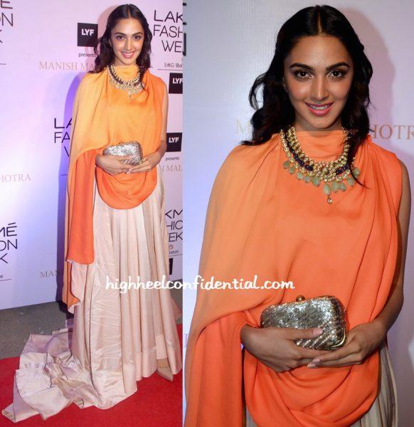Kiara Advani At Manish Malhotra's Show At Lakme Fashion Week Summer Resort 2016-2