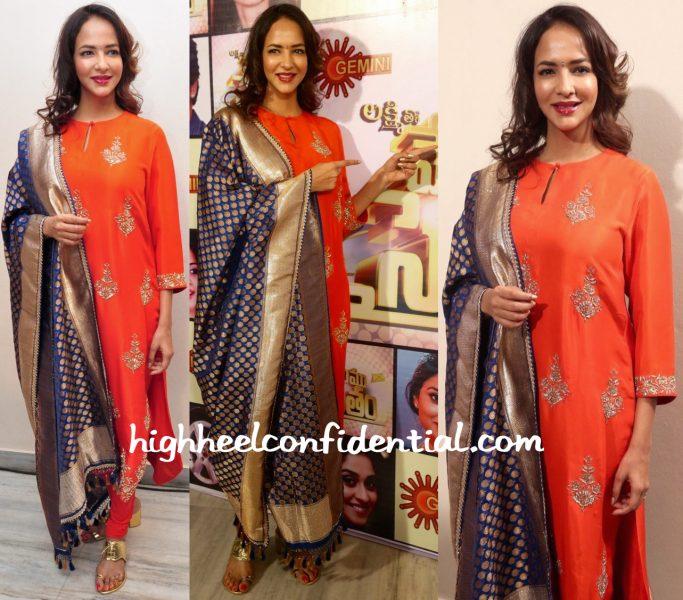 Lakshmi Manchu Wears Jayanti Reddy To Memu Saitham Press Meet-2