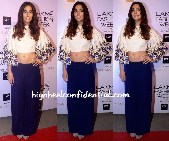 Monica Dogra At Manish Malhotra's Show At Lakme Fashion Week Summer Resort 2016