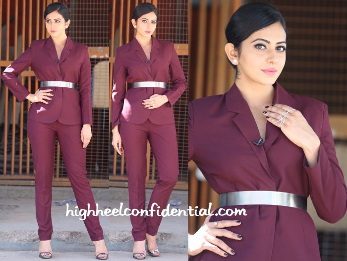 Rakul Preet Singh In AND by Anita Dongre And Archana Rao On ' Memu Saitam' Sets-2