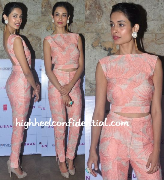 Sarah Jane Dias Wears Endemage To Zubaan Screening-1