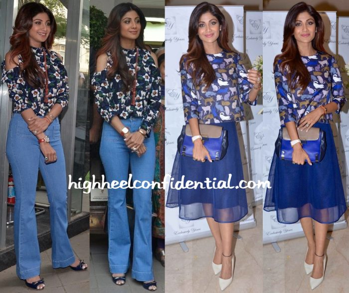 Shilpa Shetty At A Bonsai Exhibition And At Exclusively Yours Launch-1