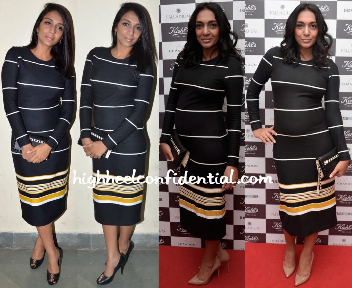 Shveta Salve In Zara At Kiehl's Event And At Sophia College Fashion Show