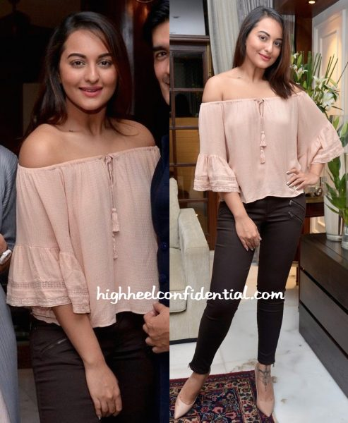 Sonakshi Sinha At Manish Malhotra's Dinner Party-1