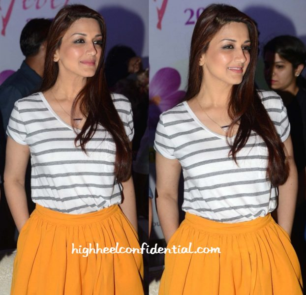 Sonali Bendre In Abercrombie Fitch And Dries Van Noten At Spring Fever 2016-2