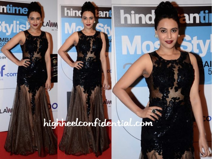 Swara Bhaskar In Jovani At HT Most Stylish Mumbai 2016