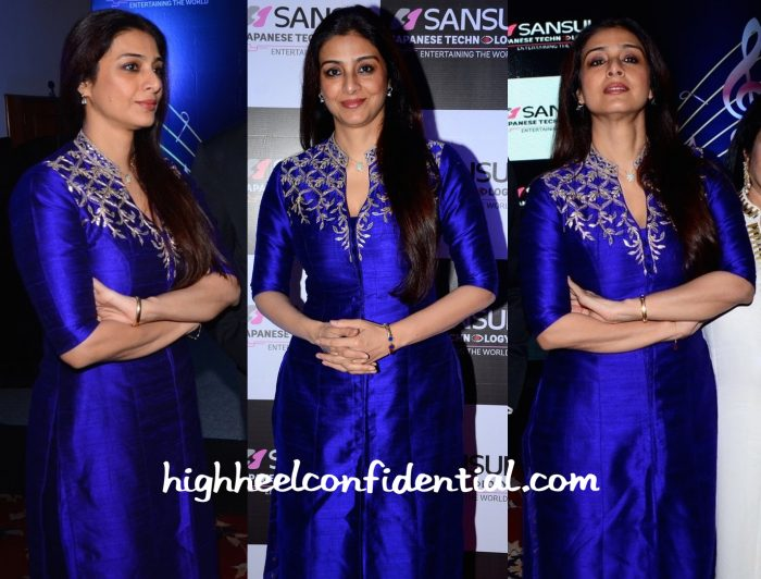 Tabu Wears Anita Dongre To An Event Honoring Anu Malik-2