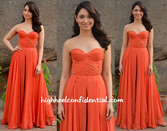 Tamannaah Bhatia In Sailex At Oopiri Promotions-1