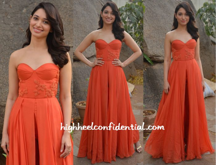 Tamannaah Bhatia In Sailex At Oopiri Promotions-2